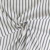 Tissu rayures qualité blanc