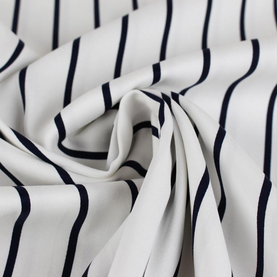Satin de coton à rayures - blanc