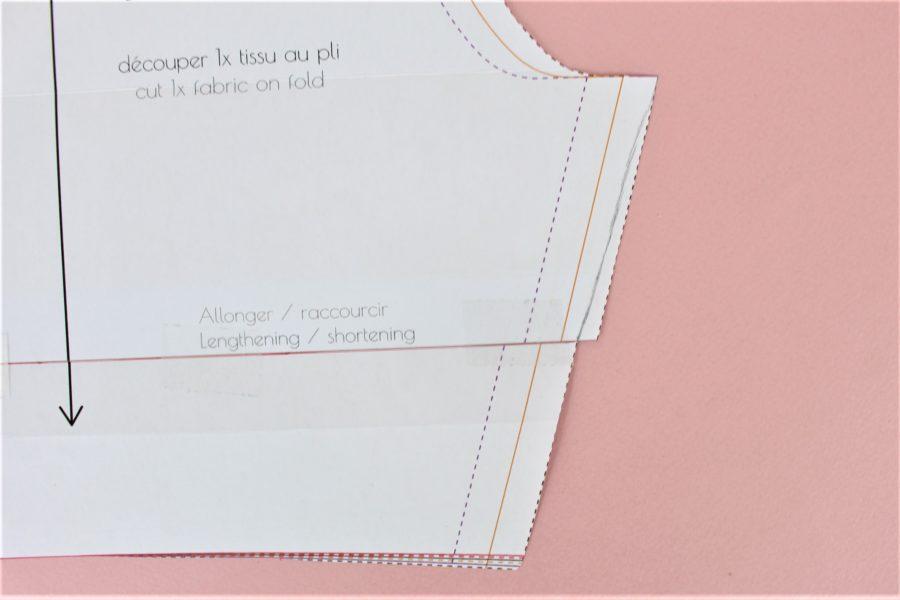 5- comment raccourcir un patron de couture