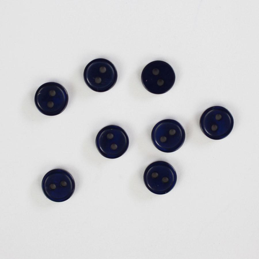 Boutons Bleu marine 10mm