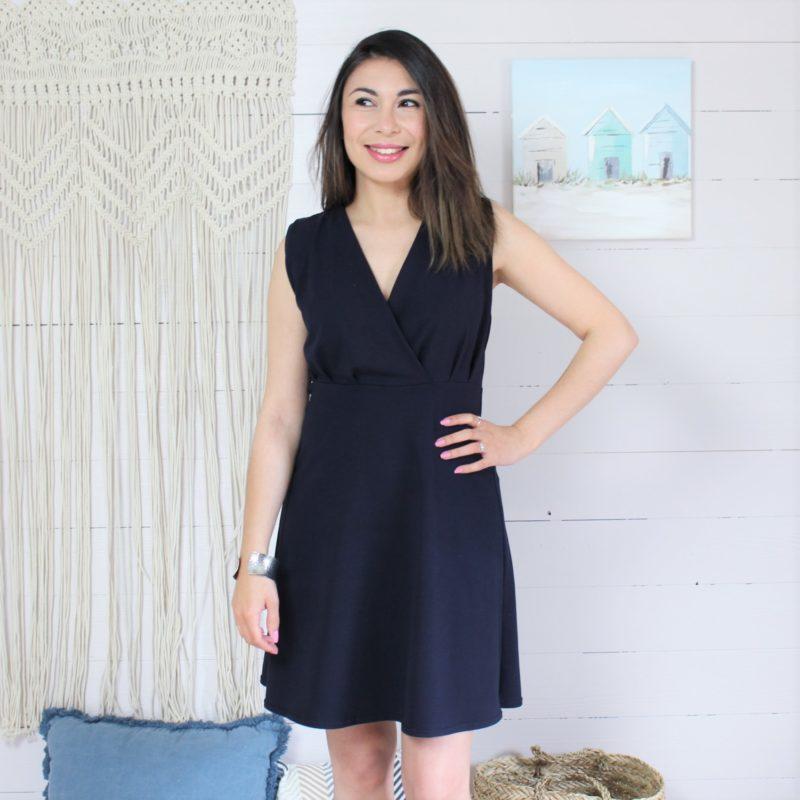 Kit couture robe Océane jersey bleu marine
