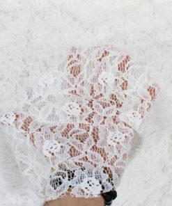 Tissu Dentelle guipure Maria - blanc