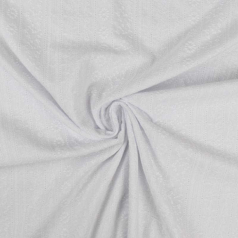 Tissu coton Broderie anglaise à fleurs