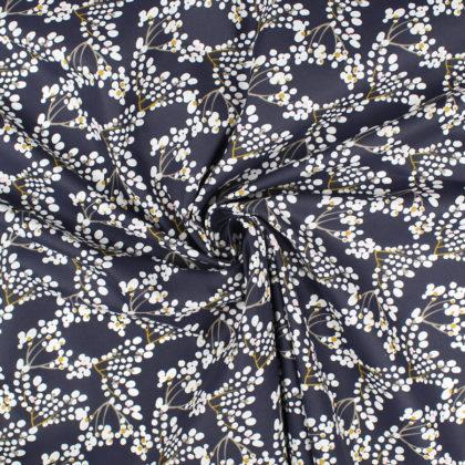Tissu Coton Belles de Nuit