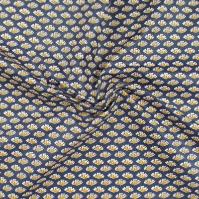 Tissu Coton enduit Sriko bleu marine