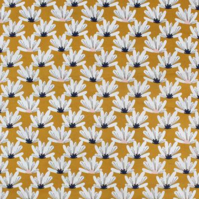 Tissu Coton Myriel moutarde