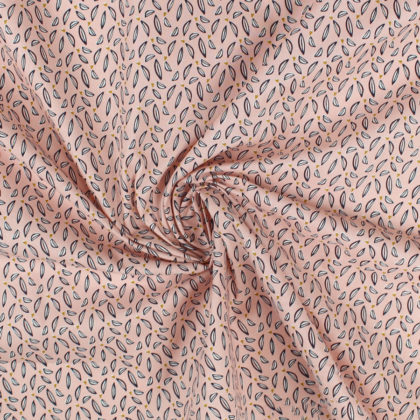 Tissu Coton Hoja rose