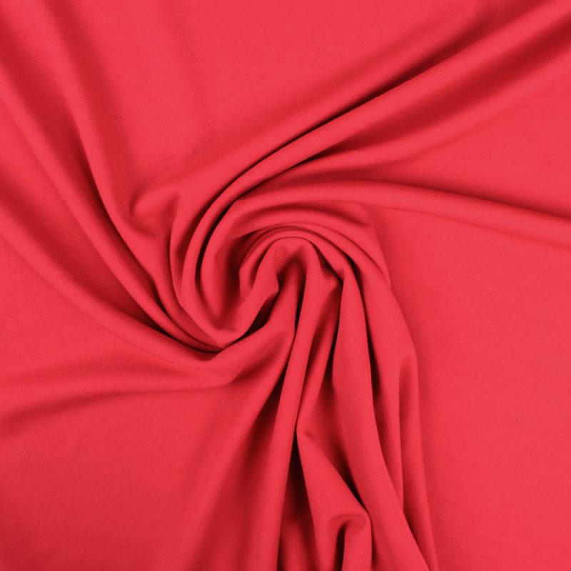 Tissu crêpe mousseux rouge