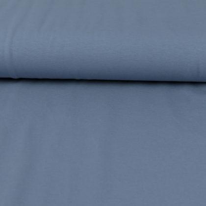Tissu Jersey de coton bleu jean