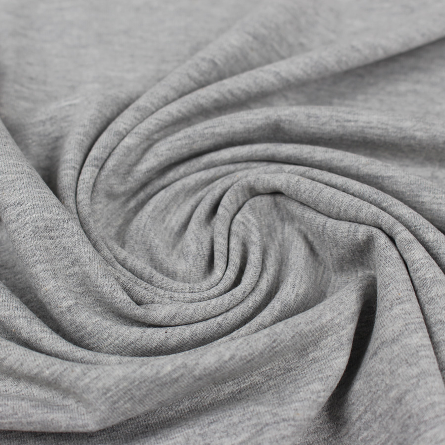 Jersey de coton - gris chiné | Tissu de collection | MounaSew