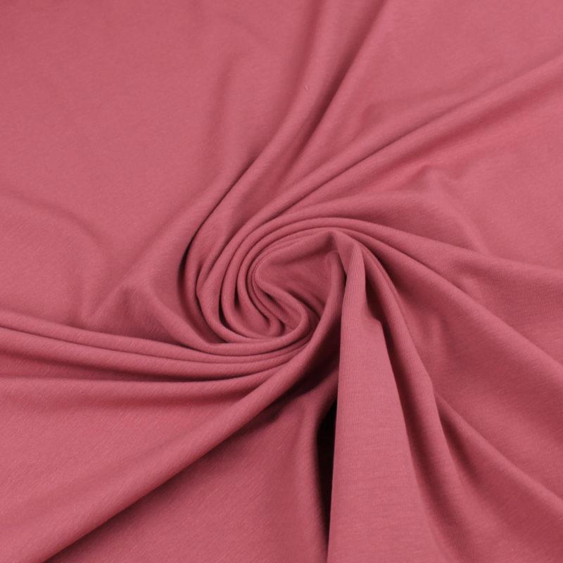 Tissu Jersey de coton rouge marsala