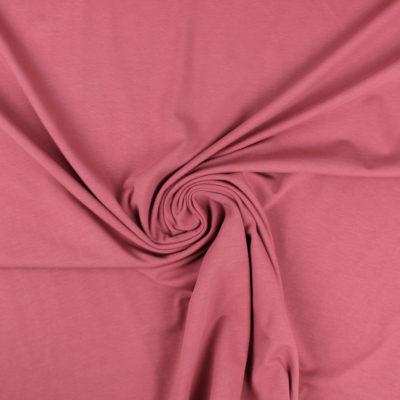 Tissu Jersey de coton marsala