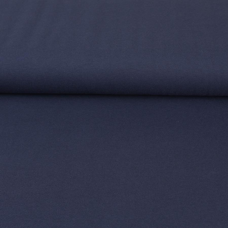 Tissu Maille polo bleu marine