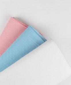 Tissu Coton plumetis uni