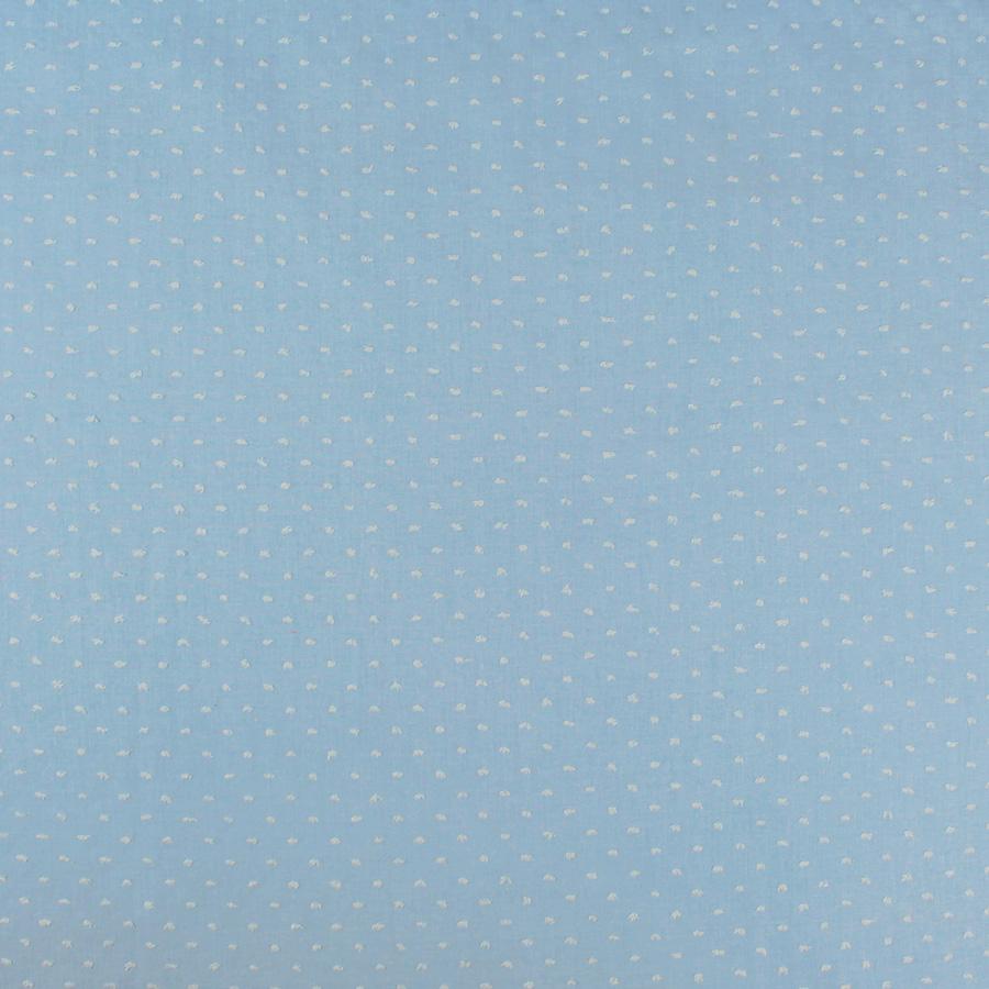 Tissu Coton plumetis uni bleu