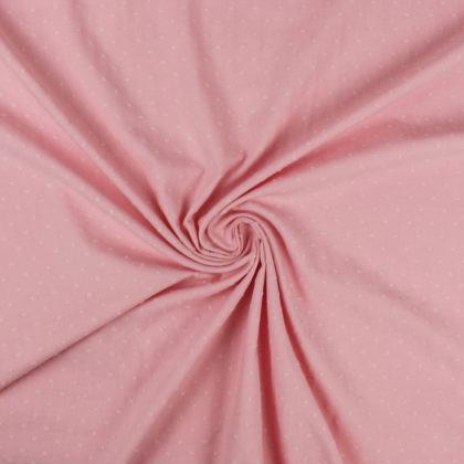 Tissu Coton plumetis uni rose