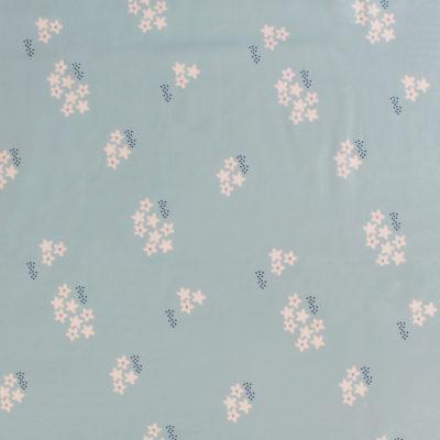 Tissu Viscose StarFlower MounaSew - bleu