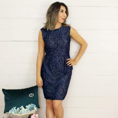 Kit couture robe Jain dentelle bleue