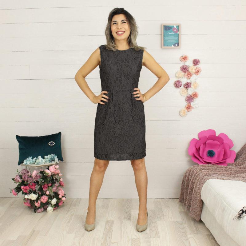 Kit couture robe Jain dentelle noire