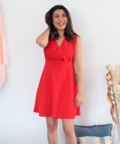 Kit couture robe Océane rouge