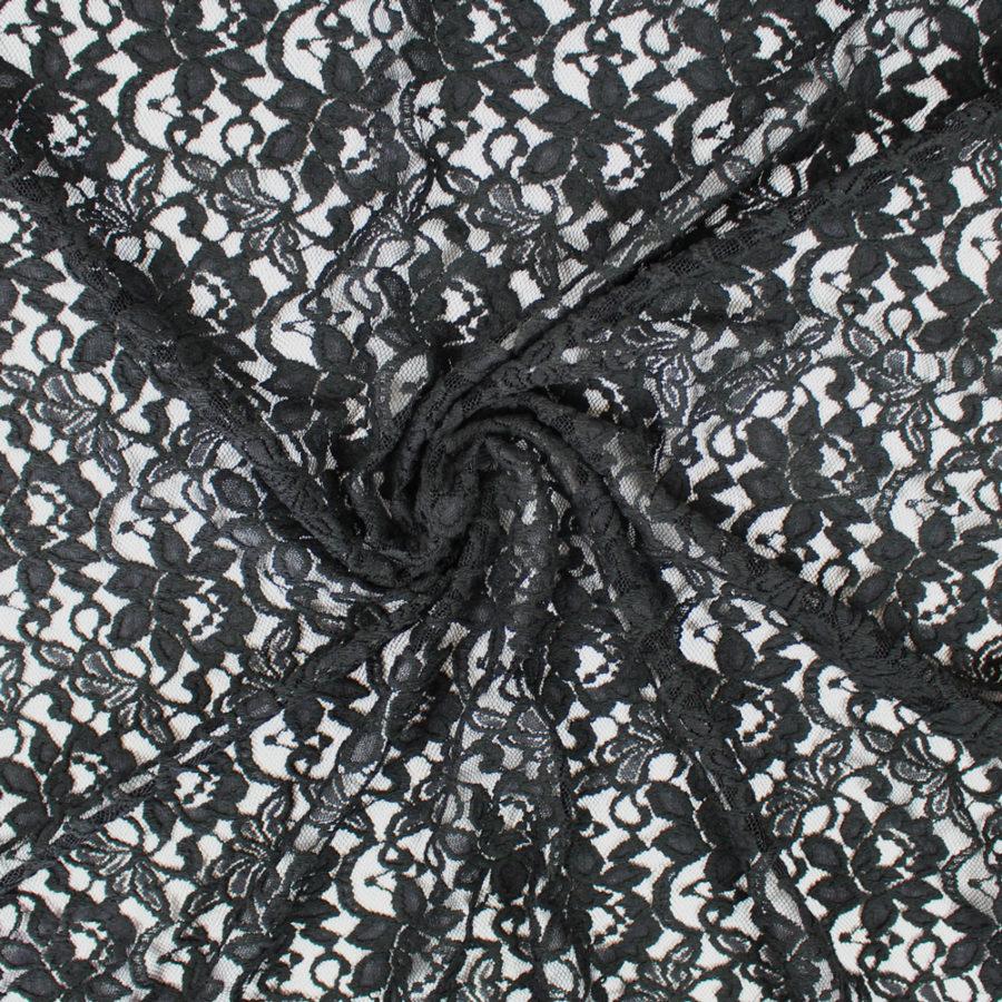 Tissu Dentelle Rosita - noir