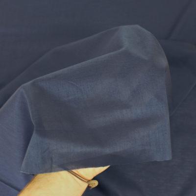 TissuVoile de coton bleu marine