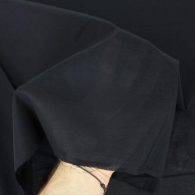 Tissu Voile de coton noir