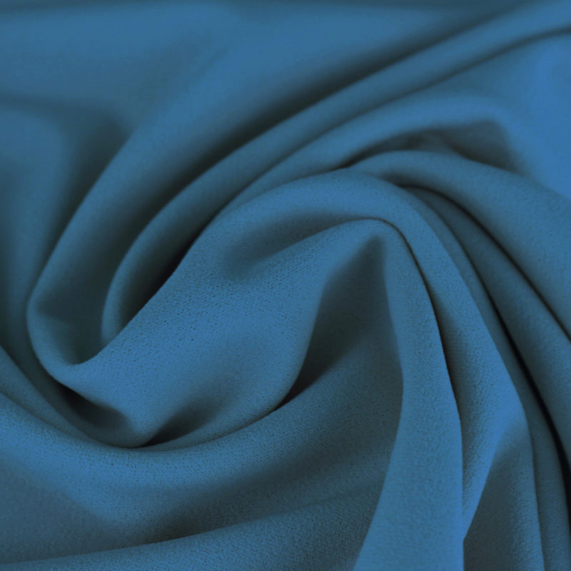 Tissu Crêpe mousseux bleu