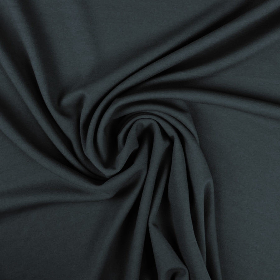 Tissu Crêpe mousseux noir