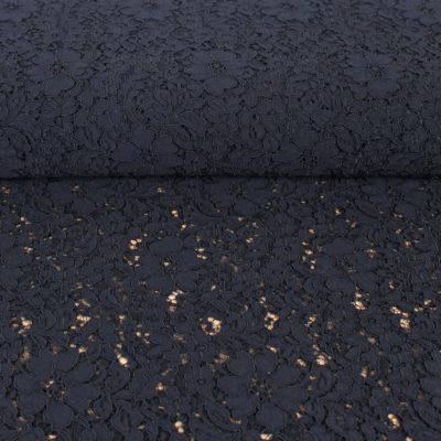 Tissu dentelle guipure italie noire