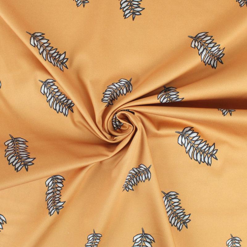 Tissu coton laurier
