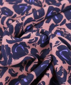 Tissu crepe de viscose rosée