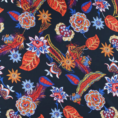 Tissu Crêpe georgette Naturae - noir