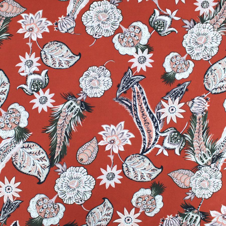 Tissu Crêpe georgette Naturae - terra