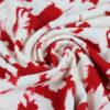 Tissu Crêpe abstrait rouge et blanc
