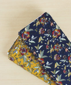 Tissu Crêpon fleurs d'automne