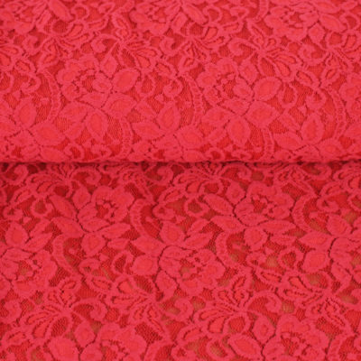 Tissu Dentelle Rosita - rouge
