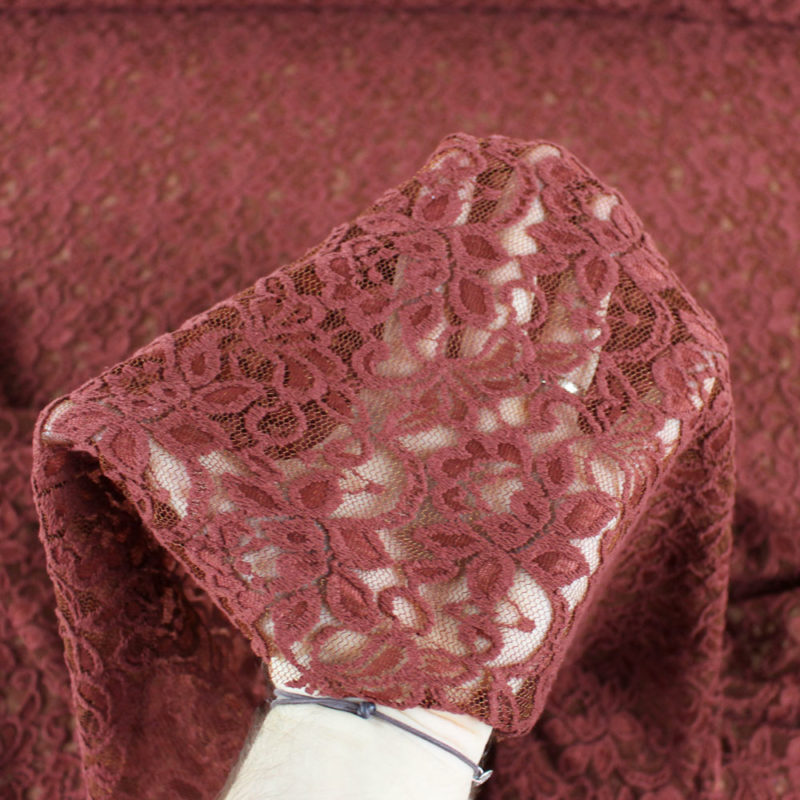 Tissu Dentelle Rosita terra