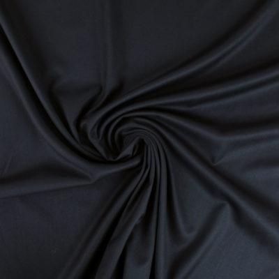 Tissu gabardine noire soyeuse