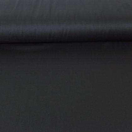 Tissu gabardine soyeuse noire