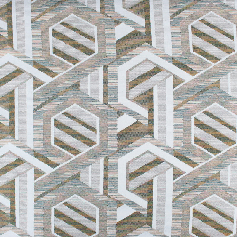 Tissu Jacquard lurex géométrique