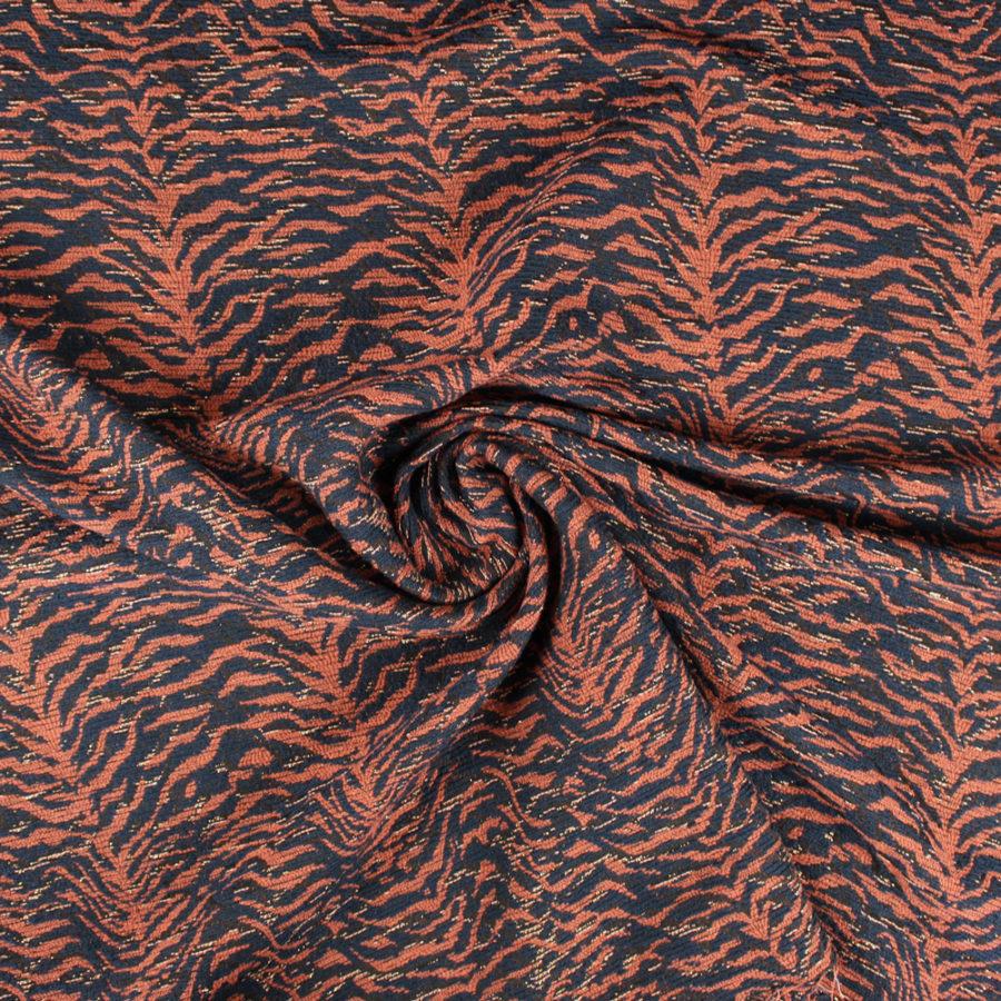 Tissu jacquard volcano lurex