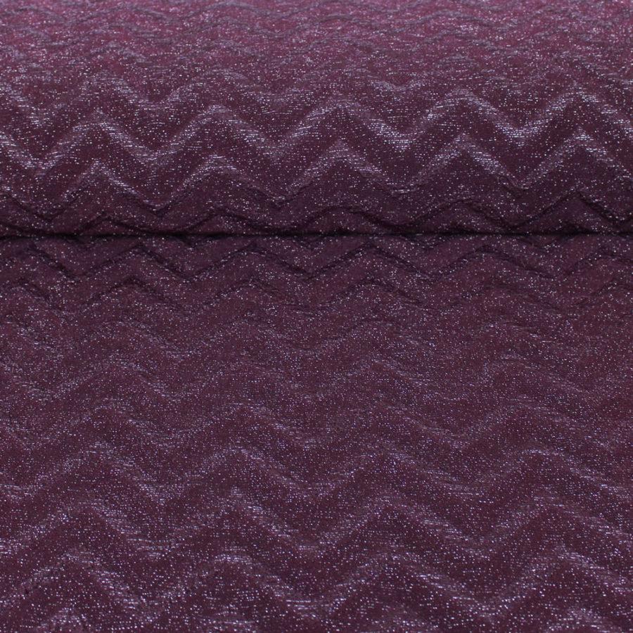 Tissu Maille lurex à chevron - bordeaux