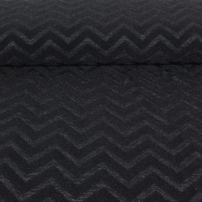 Tissu Maille lurex à chevron - noir