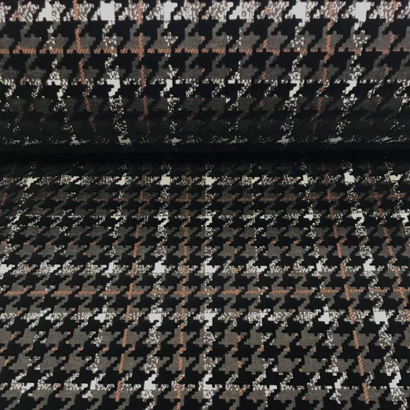 Tissu pied de coq velours
