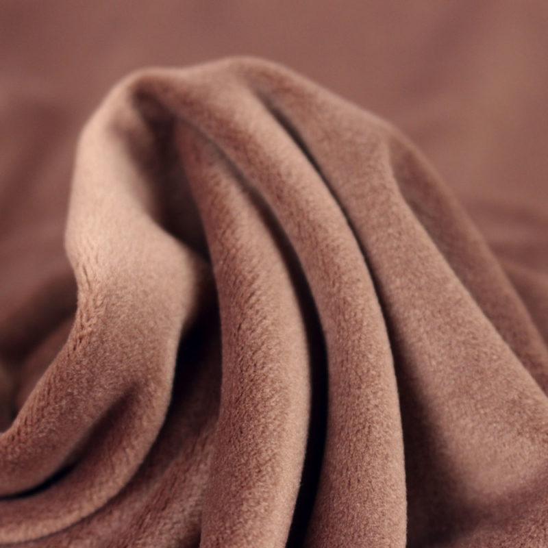 Tissu Velours marron glacé
