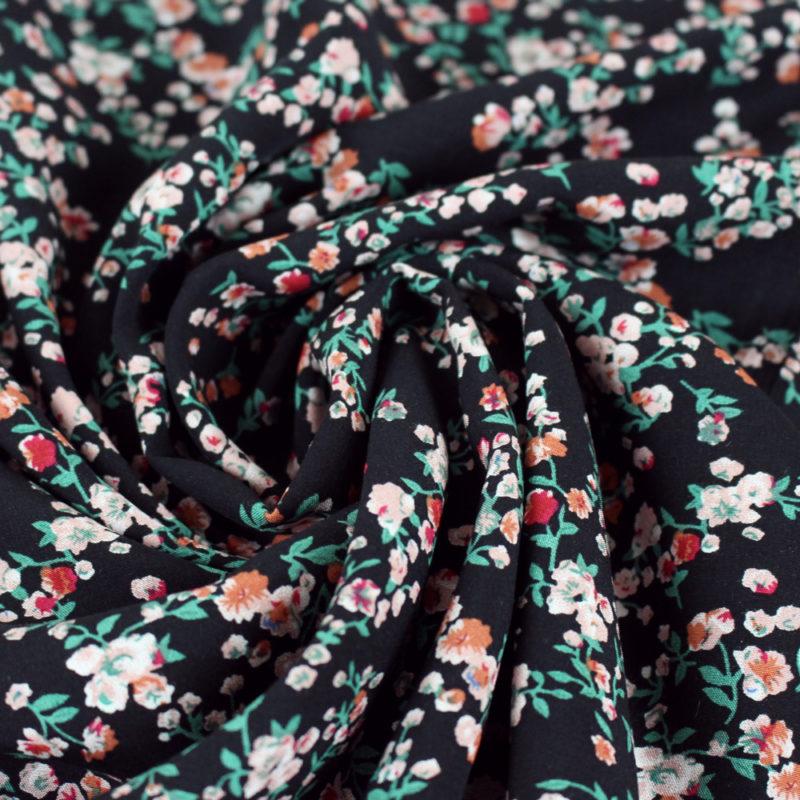 Tissu Viscose câlins de fleurs