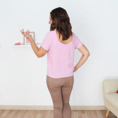 patron blouse Penta dos rose