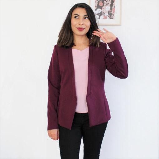 patron de couture de blazer mounasew