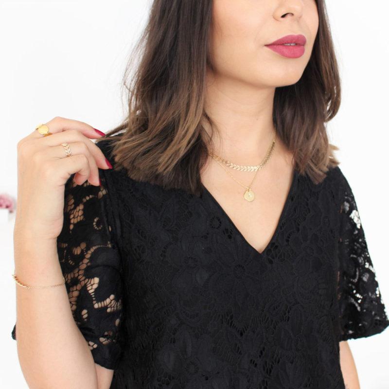 zoom décolleté robe Graziella patron couture